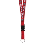 R&D Sublimated Lanyard NM Lobos Shield Red