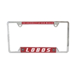 Metal License Plate Frame UNM Lobos
