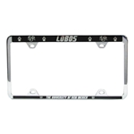 LXG License Plate Frame UNM Lobos The Univ of NM Black
