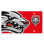 Stockdale Auto Plate Side Lobo Lobos Shield Red