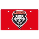 Stockdale Auto Plate Lobos Shield Red