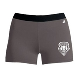 Women's Badger Compression Shorts UNM Shield Gray