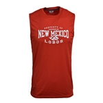Men's Russell Tank Top Property Of Albuquerque New Mexico Lobos Side Wolf Red