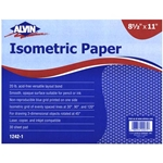 "Alvin Isometric Paper 8.3 x 11"" 30 Sheets"