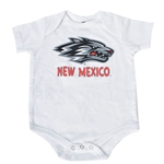 Infant Colosseum Diaper T-Shirt Side Wolf New Mexico White