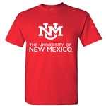 Men's Ouray T-Shirt The University Of New Mexico & New UNM Interlocking Logo Red