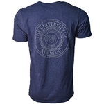 Men's Russell t-Shirt The University Of New Mexico & New UNM Interlocking Logo Navy Blue