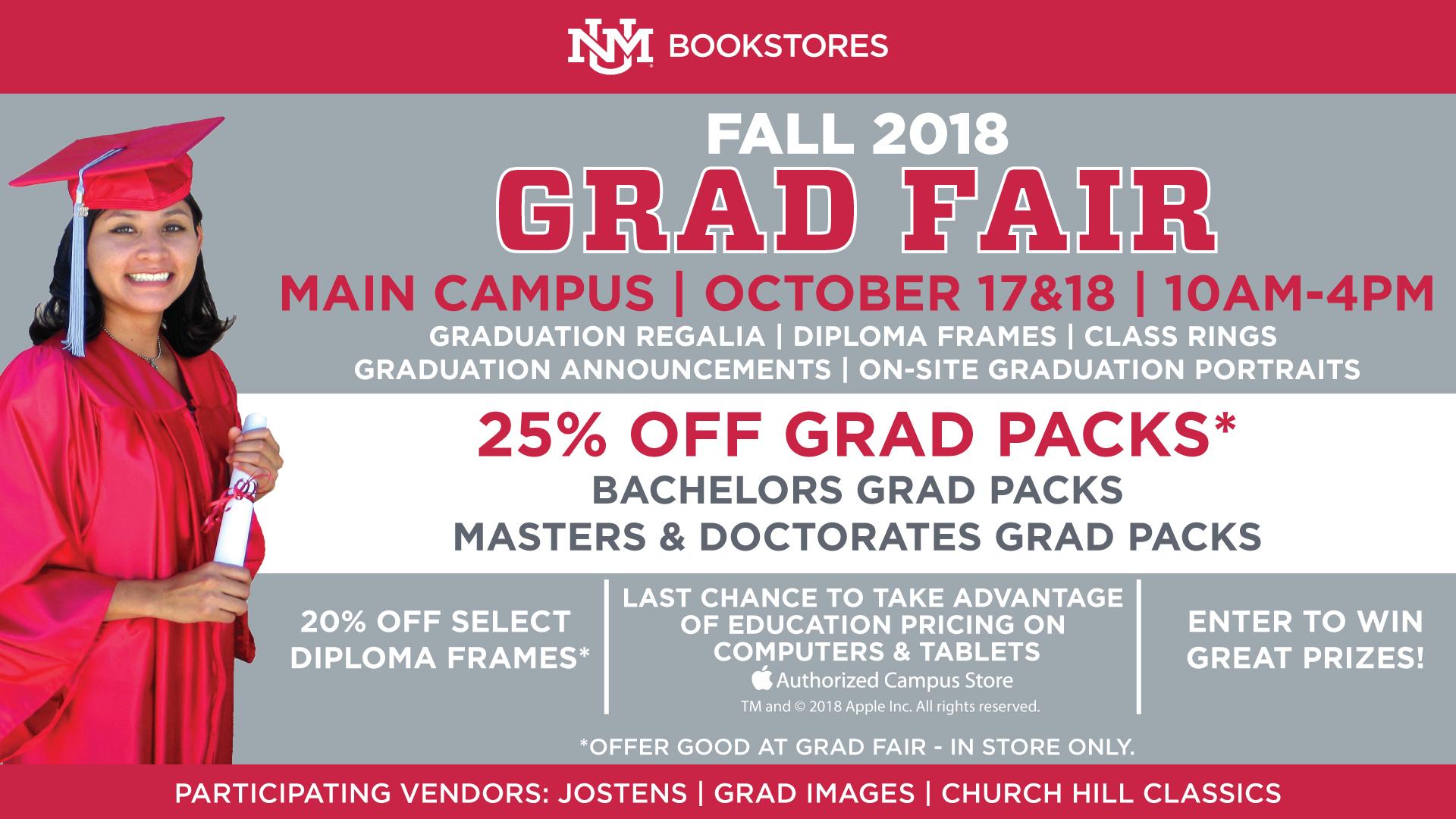unm bookstore graduation
