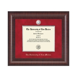 Silver Premire Diploma Frame Silver Accents for Doctorate