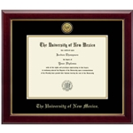Gold Gallery Diploma Frame w/ Gold Accents Ba/Ma