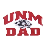 Decal UNM Mom Side Lobo Logo 5.5x3.5