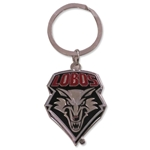 Metal Key Chain Lobos Shield