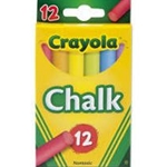 Crayola Chalk Assorted Colors 12 Pack