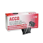 ACCO Medium Blinder Clips 12 Pack