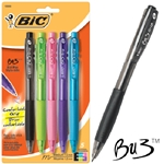 Bic BU3 Ball Pens Assorted Colors 5 Pack