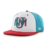 Men's Regime 47 Pro UNM Logo White/Turquoise/Red On Field