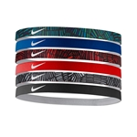 Nike Printed Headbands Asstd. 6Pk