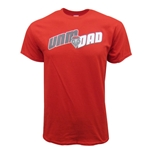 Men's Gildan T-Shirt UNM DAD Lobos Shield Red