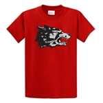 Men's GCO T-Shirt Old School Wolf Red