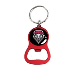 NEIL Bottle Opener Key Ring Lobos Shield Red