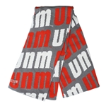 The Game Scarf Repeating UNM Gray