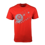Men's C Port T-Shirt Lobos Shield Football Red