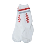 Toddler's FBF Socks Lobos White