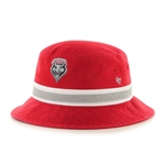 Men's Striped 47 Bucket Lobos Shield Logo Red