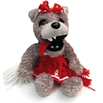 Plush Cheerleader Lobo Lucy Mascot
