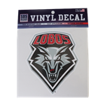 Decal Lobos Shield Gray 6""