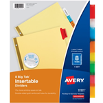 Avery Big Tab Insertable Dividers Assorted Colors 8 Pack