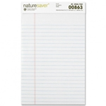 "Naturesaver Legal Rule Pad White 8.5""x11"""