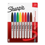 Shapie Fine Point Permanent Markers Assorted Colors 8 Pack