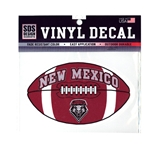 SDS Decal NM Lobos Shield Football 6""
