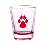 R&D Shot Glass Red Paw 1.75oz