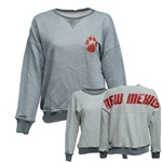 Women's Spirit Crew Reversible UNM Paw New Mexico