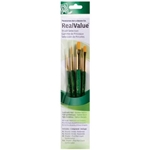 Princeton Art & Brush Co. Real Value Brush Slection 4 Pack