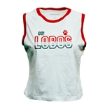 Women's Camp David Tank Top Go! Lobos UNM Paw White
