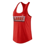 Women's Nike Tank Top Lobos Red