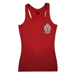 Women's Badger Tank Top UNM Paw & Lobos Red