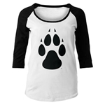 Women's College House 3/4 Tee UNM Paw Black/White Colorblock