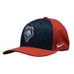 Youth Nike Cap UNM Shield Flex Fit Black & Red