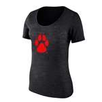 Women's College House T-Shirt UNM Paw Grey