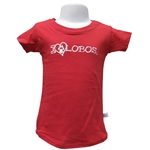 Toddler Girls Third Street T-Shirt I Love Lobos & Paw Red