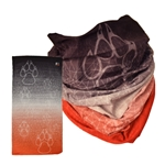 Women's The Game Sublimated Neck Gaiter UNM Paw Red/White/Sliver