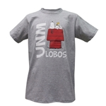 Youth Third Street T-Shirt Snoopy UNM Lobos Grey