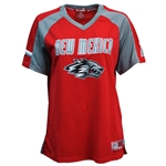Women Colosseum Football Jersey New Mexico Side Lobo Grey & Red