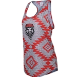 Women's Zoozatz Tank UNM Shield Red & Grey
