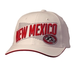 Men's Zephyr Cap New Mexico Side Lobo White