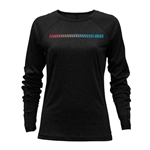 Women's Camp David Long Sleeve T-Shirt Tonal Stipe Lobos Black